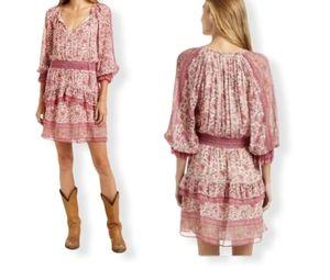 Anthropologie Love the label Boho dress pink